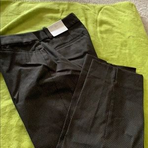 Loft Julie fit black polka dot pants
